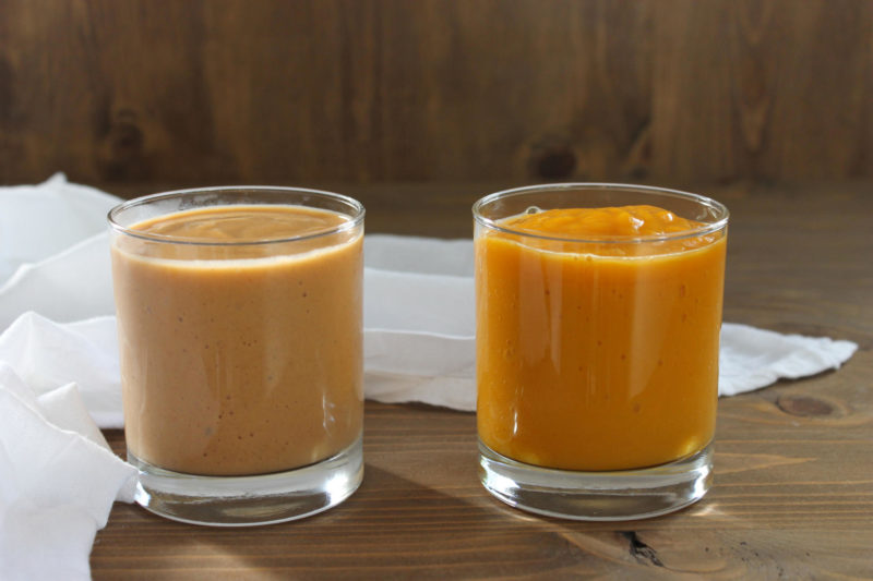 Sweet Potato Smoothie, Two Ways