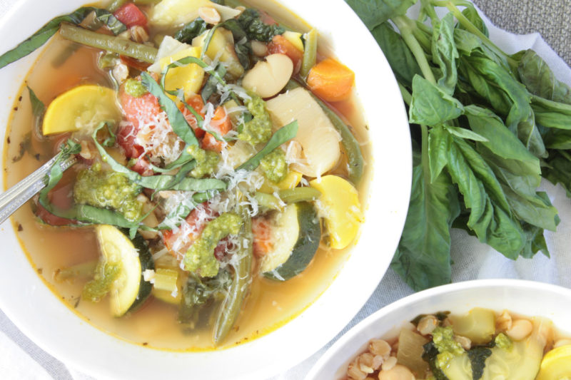 Summer Minestrone with Farro